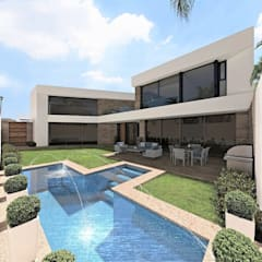 LEM house: Casas unifamiliares de estilo  por Víctor Díaz Arquitectos
