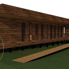 Casas unifamiliares de estilo  por Loberia Arquitectura
