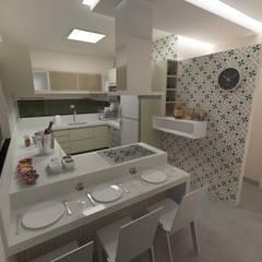 Projeto Moderno de Arquitetura. Cozinhas ecléticas por Júlio Padilha Fabiani - Arquiteto Eclético Granito