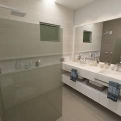 Banheiro Suíte: Banheiros  por Júlio Padilha Fabiani - Arquiteto