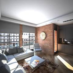Doku Mimarlık – Bornova Apartman: klasik tarz tarz Oturma Odası