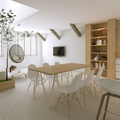 Scandinavian Style in Punggol Central:  Living room by Singapore Carpentry Interior Design Pte Ltd,Scandinavian