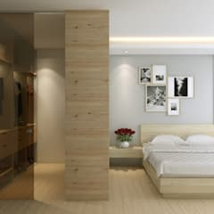 Master bedroom:  Bedroom by Singapore Carpentry Interior Design Pte Ltd