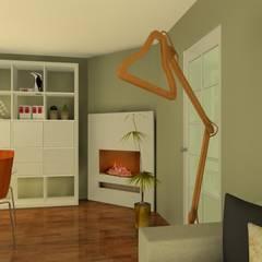 Optimiser et moderniser un séjour de 20 m2: Salle à manger de style de style Moderne par Anne Caroline Devos - Créatrice d'Intérieurs