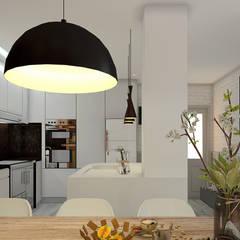 vista 3D/cozinha: Cozinhas  por ORMIGON ARCHI
