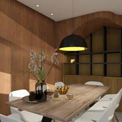 vista 3D/jantar: Cozinhas  por ORMIGON ARCHI