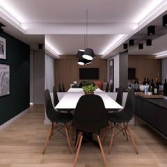 Projeto AC - Residencial: Salas de jantar  por Studio Side