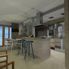 Cobertura da Família Cozinhas mediterrâneas por Onix Designers Mediterrâneo