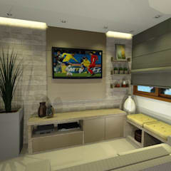 mediterranean Media room by Onix Designers