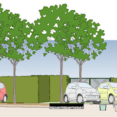 Bio-sustenaible Parking section: Escuelas de estilo  de Angel Rubio