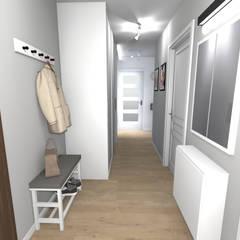 Mieszkanie (Kraków): styl , w kategorii Korytarz, przedpokój zaprojektowany przez Agnieszka Buchta-Swoboda Design