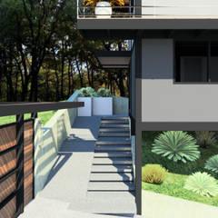 Loft JYN: Escaleras de estilo  por Arq. Rodrigo Culebro Sánchez