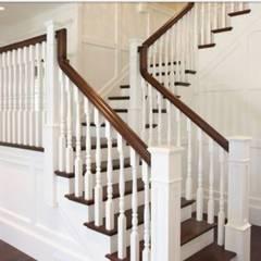 美式扶手:  樓梯 by 茂林樓梯扶手工程團隊