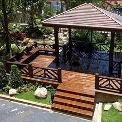 Jardines de estilo asiático de 茂林樓梯扶手地板工程團隊 Asiático