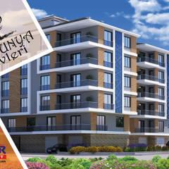 Onur Grup Mimarlık – PETUNYA EVLERİ:  tarz Apartman