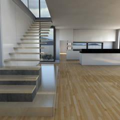 Construção de Moradia: Escadas  por Atelier 72 - Arquitetura, Lda,