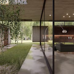 VIVIENDA UNIFAMILIAR Grand Bell #1070 Jardines de invierno modernos de Arq Olivares Moderno Aluminio/Cinc