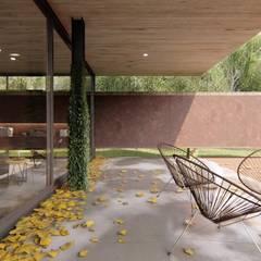 VIVIENDA UNIFAMILIAR Grand Bell #1070: Terrazas de estilo  por Arq Olivares