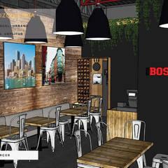 Vista izquierda: Comedores de estilo industrial por Estudio Chipotle