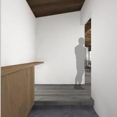 赤膚町の家: NOMA/桑原淳司建築設計事務所が手掛けた廊下 & 玄関です。