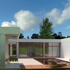 Residência EV   A romântica : Piscinas de jardim  por Alto Arquitetos
