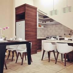 Dining & Kitchen:  Dapur built in by Vaastu Arsitektur Studio