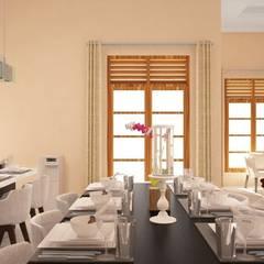 Proposal Rumah Tropis Moderen . GDC – Depok . Jawa Barat: Ruang Makan oleh Vaastu Arsitektur Studio,