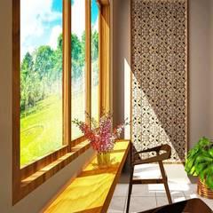 Proposal Rumah Tropis Moderen . GDC – Depok . Jawa Barat: Teras oleh Vaastu Arsitektur Studio, Eklektik