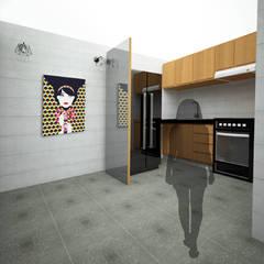 Diseño de Taller de Moda: Muebles de cocinas de estilo  por UOTAN Studio