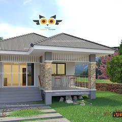 Rumah tinggal  by แบบบ้านออกแบบบ้านเชียงใหม่