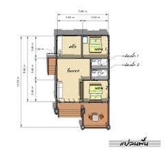 แปลน:  บ้านและที่อยู่อาศัย by แบบบ้านออกแบบบ้านเชียงใหม่