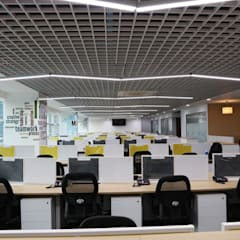 Office area:  Commercial Spaces by Apex Project Solutions Pvt. Ltd.
