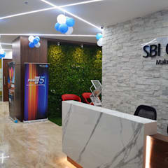 Office area reception:  Commercial Spaces by Apex Project Solutions Pvt. Ltd.