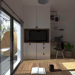 Appart' Parisien - Style atelier & indus' : Bureau de style  par Sandia Design