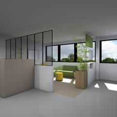 Open Space -  Espace vitaminé : Bureaux de style  par Sandia Design