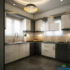 Modern Interior:  Kitchen by Monnaie Interiors Pvt Ltd