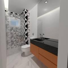 Baños de estilo  por Ana Luiza Ribeiro Arquitetura e Interiores