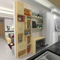 Kitchen units by Ana Luiza Ribeiro Arquitetura e Interiores