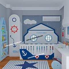 MOBİLYADA MODA  – Marin Konseptli Çocuk Odası, Yunus Emre'nin Odası :  tarz Bebek odası