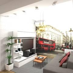 Interiorismo de Casa Leandro en Ramos Mejía por 3G Arquimundo: Livings de estilo  por Arquimundo 3g - Diseño de Interiores - Ciudad de Buenos Aires