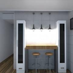 Proyecto Leandro - Cocina: Cocinas de estilo  por Arquimundo 3g - Diseño de Interiores - Ciudad de Buenos Aires