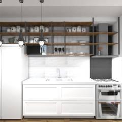 Proyecto Leandro - Cocina: Cocinas de estilo  por Arquimundo 3g.