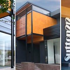 Fachada: Oficinas y Tiendas de estilo  por Metamorfosis arquitectura y diseño