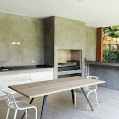 Quincho Lo Matta, 30m2, Vitacura: Comedores de estilo  por m2 estudio arquitectos - Santiago