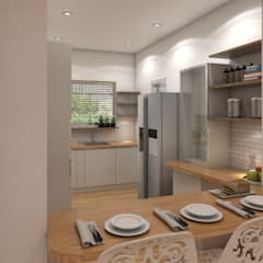 Kitchen Designs:  Built-in kitchens by The Cobblestone Studio