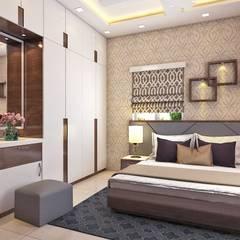 2 BHK Interior Design In Kolkata:  Bedroom by Best Luxury Interiors