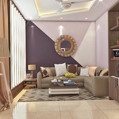 2 BHK Interior Design In Kolkata:  Corridor & hallway by Best Luxury Interiors