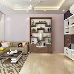2 BHK Interior Design In Kolkata:  Living room by Best Luxury Interiors