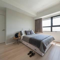 غرفة نوم تنفيذ 耀昀創意設計有限公司/Alfonso Ideas,