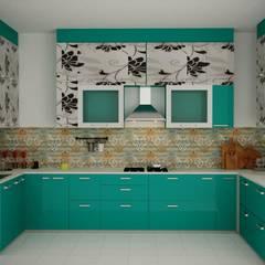 Cocinas de estilo  de swastik architects